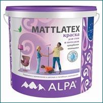 Краска ALPA MATTLATEX в Краснодаре